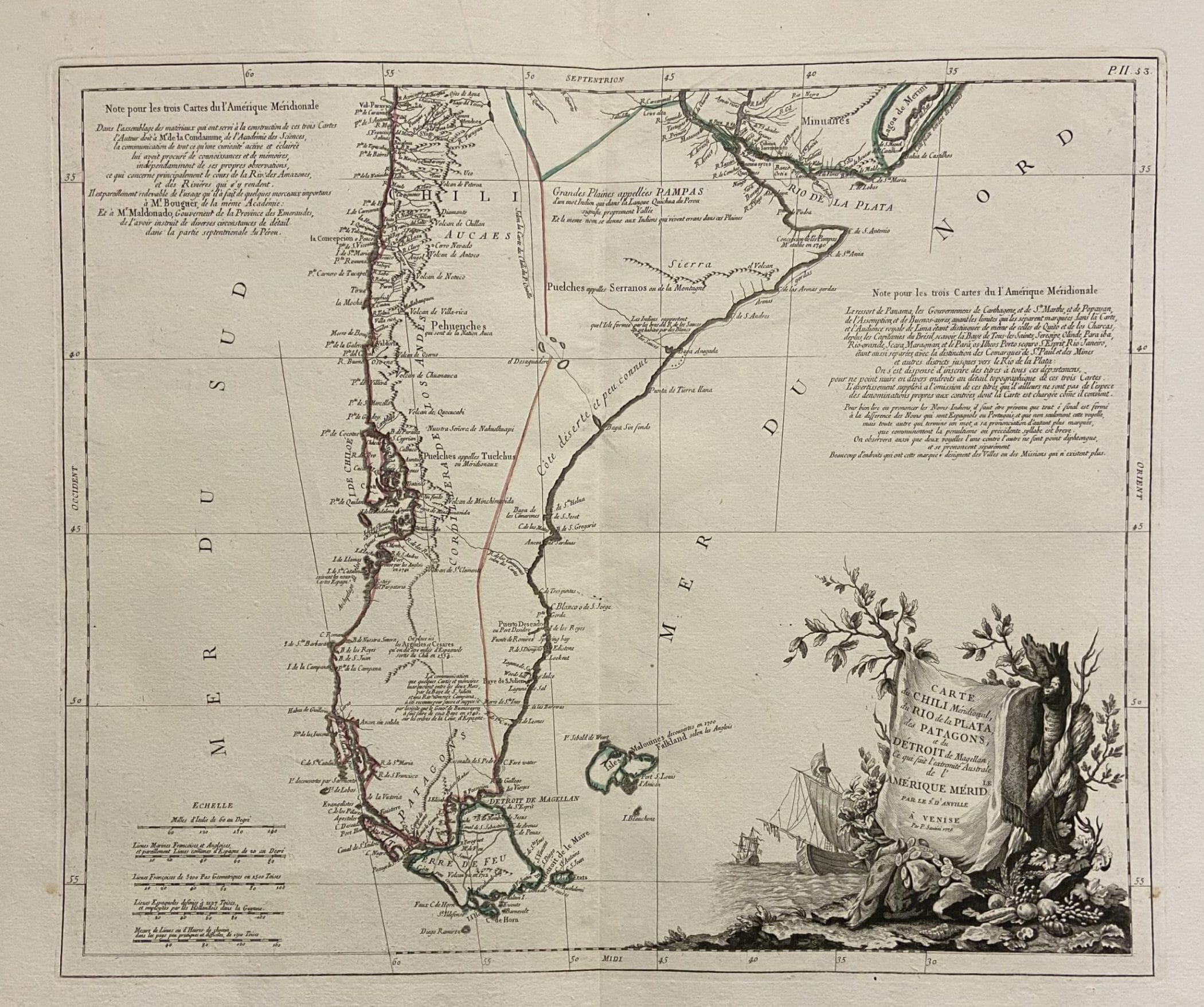 Patagonia Cartina Geografica.Patagonia Oliva Stampe Antiche Parma